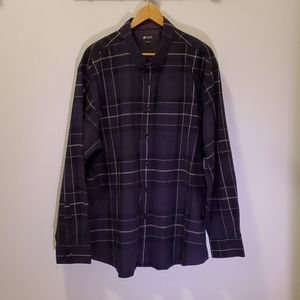 Haggar Flannel Plaid Long Sleeve Shirt